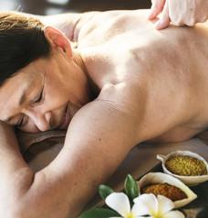 Senior woman enjoying a massage