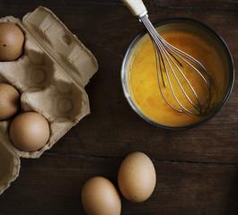 Beaten eggs food photography recipe idea