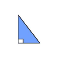right triangle icon. Element of web icon with one color for mobile concept and web apps. Thin line right triangle icon can be used for web and mobile. Premium icon