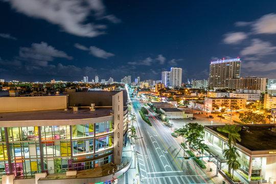 Lincoln Road & Miami Beach at Twilight