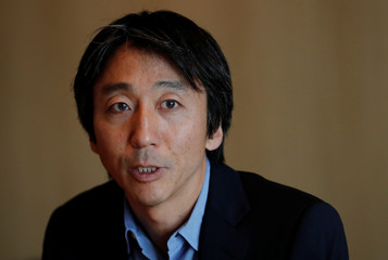 Sony Interactive Entertainment Inc CEO and President Kodera attends a group interview in Tokyo