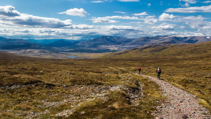 Mountain Bikers in Scotland