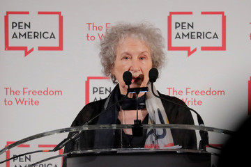 Author Margaret Atwood speaks at the PEN America Literary Gala in New York