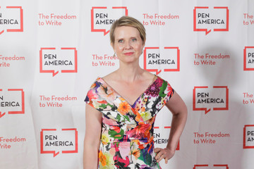 Actress Cynthia Nixon arrives to attend the PEN America Literary Gala in New York