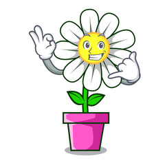 Call me daisy flower mascot cartoon