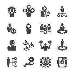 Human machine icon set