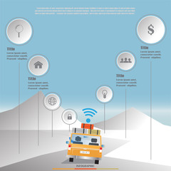road trip wifi business infographic