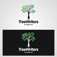 Tree Writer Logo Designs Template