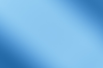 Blurred background of blue color. Diagonal darkening left and right.