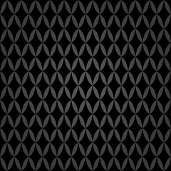 Seamless background for your designs. Modern vector dark ornament. Geometric abstract pattern