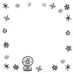 クリスマス スノードーム フレーム