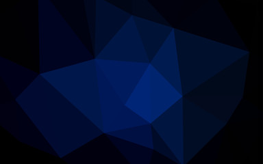 Dark BLUE vector triangle mosaic template.