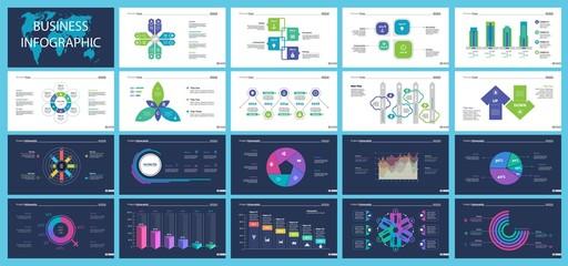 Business infographic presentation slide design set