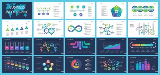 Business inforgraphic design set for marketing concept