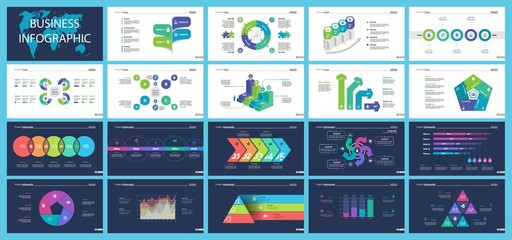 Creative business infographic diagram set