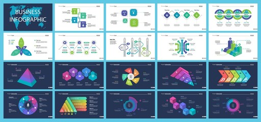 Creative infographic diagrams with geometric elements