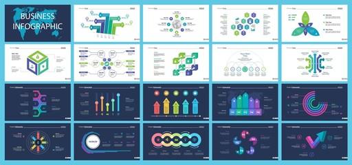 Inforgraphic slide templates for business presentation
