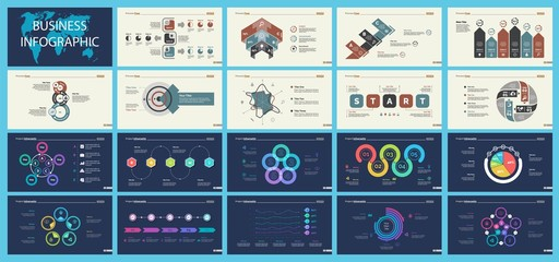 Set of planning or startup concept infographic charts