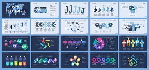 Set of planning or strategy concept infographic charts