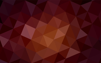 Dark Red vector abstract polygonal background.