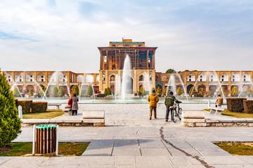 Ali Qapu Palace at Naqsh-e-Jahan Square in Isfahan, Iran.