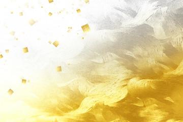 金色の和紙でレイアウトしたビジュアル