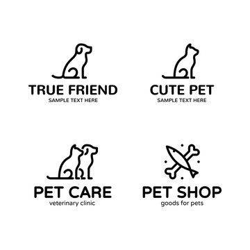Vector Pet Logo Template Set