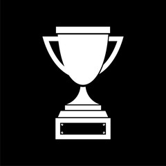 Trophy sign icon, Trophy cup, award on dark background