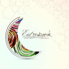nice and beautiful abstract or poster for Eid Mubarak with nice and creative design illustration.