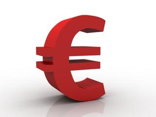 3D rendering euro symbol