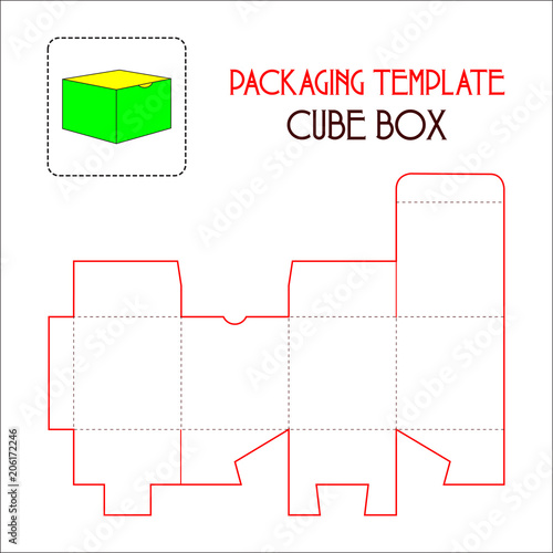 cube box packaging template vector stock image and royalty free