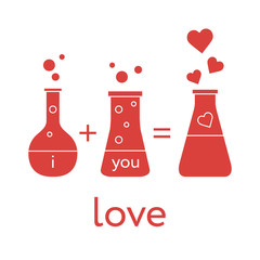 Chemistry of love. Valentine's Day
