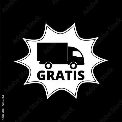 gratis icon gratis sign on dark background stock image and royalty