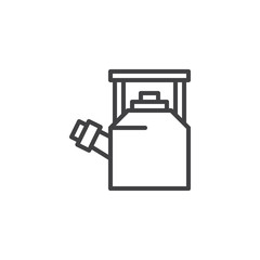 Whistling Kettle outline icon. linear style sign for mobile concept and web design. Kitchen utensil simple line vector icon. Symbol, logo illustration. Pixel perfect vector graphics