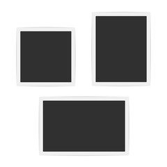 Blank photo frames set.