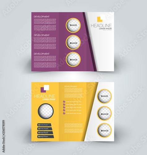 tri fold brochure design creative business flyer template editable