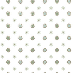 Abstract floral vector seamless pattern, simple pastel color background for your design