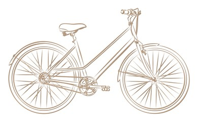 Sketch of the old bicycle.