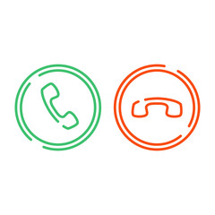 Phone call icons set.