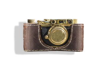vintage camera isolated on white