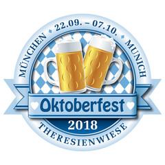 vektor logo emblem für das Oktoberfest 2018 in München