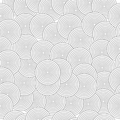 seamless pattern with abstract black circles - black and white pattern
