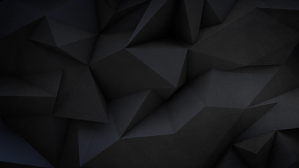 Dark polygonal wall of concrete Wall mural