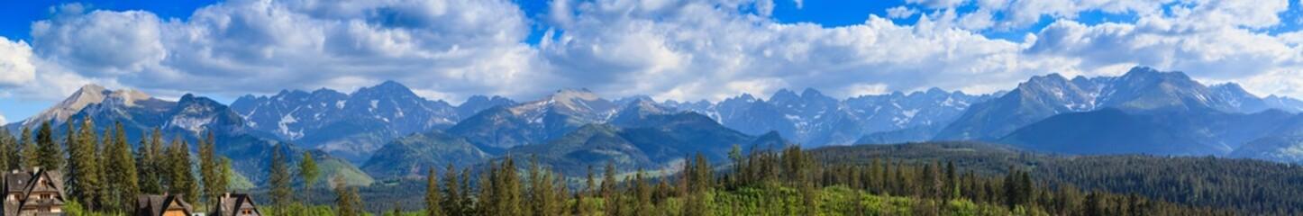 Fototapeta Panorama. View of the Tatra Mountains.Poland obraz