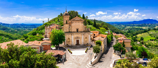 Traditional medieval villages of Italy - scenic borgo Casperia, Rieti province