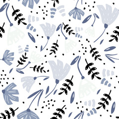 Seamless pattern with floral