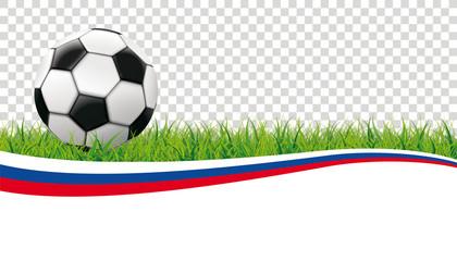 Football Grass Header Russia Transparent