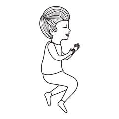cute little son avatar character vector illustration design