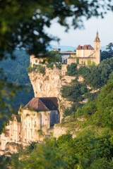 Village of Rocamadour in Lot department in France.