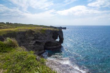Cape Manzamo, ocean, Okinawa, Japan